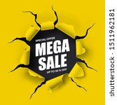 mega sale banner in the form of ...   Shutterstock .eps vector #1511962181
