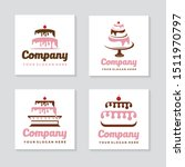 sweety cake logos collection... | Shutterstock .eps vector #1511970797
