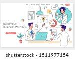 team building. business team...   Shutterstock .eps vector #1511977154