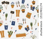 seamless pattern with vector... | Shutterstock .eps vector #1511981174