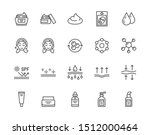 skin care flat line icons set....