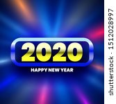 happy new year 2020 glowing... | Shutterstock .eps vector #1512028997