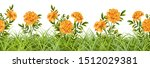 seamless border of grass and... | Shutterstock .eps vector #1512029381