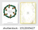 vector tropical floral... | Shutterstock .eps vector #1512035627