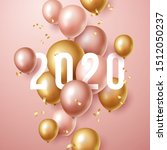 happy new year 2020 background... | Shutterstock .eps vector #1512050237