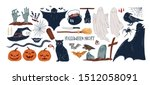 halloween symbols hand drawn... | Shutterstock .eps vector #1512058091