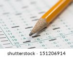 standardized test form with... | Shutterstock . vector #151206914