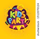 kids party inscription on the... | Shutterstock .eps vector #1512070124