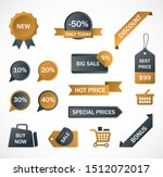vector stickers  price tag ... | Shutterstock .eps vector #1512072017