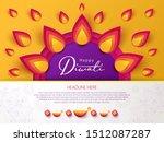 diwali hindu festival greeting... | Shutterstock .eps vector #1512087287