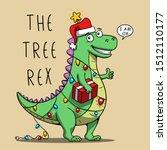Funny Cartoon Dinosaur...