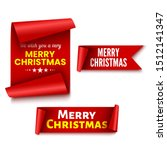 set of red christmas banners.... | Shutterstock .eps vector #1512141347
