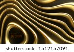 organic wavy golden stripes.... | Shutterstock .eps vector #1512157091