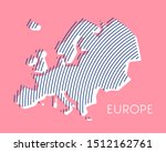 pink striped map of europe | Shutterstock .eps vector #1512162761