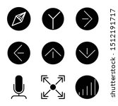 user interface outline icon set ...