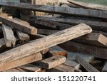 A Scrap Wood Pile With...