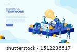 trendy flat illustration.... | Shutterstock .eps vector #1512235517