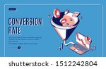 conversion rate isometric web... | Shutterstock .eps vector #1512242804