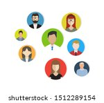 people connecting flat icon... | Shutterstock .eps vector #1512289154