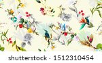 wide vintage seamless pattern... | Shutterstock .eps vector #1512310454