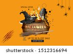 happy halloween sale banners or ... | Shutterstock . vector #1512316694