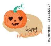 halloween pumpkin with happy... | Shutterstock .eps vector #1512332327