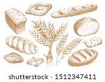 set of hand drawn bakery... | Shutterstock .eps vector #1512347411