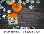 Scarecrow And Pumpkin Collage...