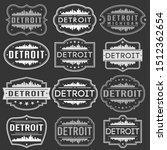 detroit michigan skyline.... | Shutterstock .eps vector #1512362654