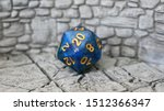 Blue Dnd Dice On 3d Printed...