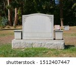 Blank Grave Stone Tombstone...