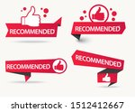 recommended banner with thumbs... | Shutterstock .eps vector #1512412667