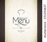 restaurant menu design | Shutterstock .eps vector #151243637