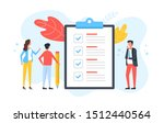 checklist. group of people and... | Shutterstock .eps vector #1512440564