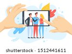 people taking photo on mobile... | Shutterstock .eps vector #1512441611