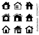 black home icons isolated on... | Shutterstock . vector #151244177