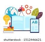 online teaching learning...   Shutterstock .eps vector #1512446621