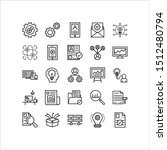 icons set. thin line icons for...
