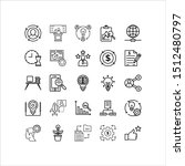 material design icons set. thin ...
