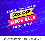 limited time offer banner with... | Shutterstock .eps vector #1512503177