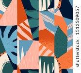 abstract tropical seamless... | Shutterstock . vector #1512509057