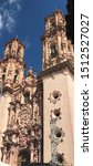 Small photo of Church facade located in tabasco, you can seize its reliefs and engravings.