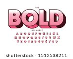 vector of stylized modern font... | Shutterstock .eps vector #1512538211