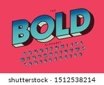 vector of stylized modern font... | Shutterstock .eps vector #1512538214