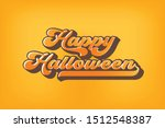 happy halloween greeting card... | Shutterstock .eps vector #1512548387