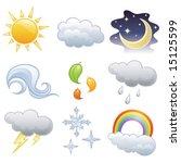 vector weather icon   Shutterstock .eps vector #15125599