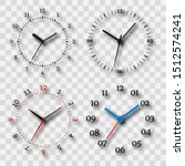 watch dial on a transparent...