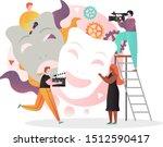 movie production vector...   Shutterstock .eps vector #1512590417