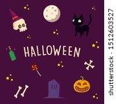 halloween greeting card....   Shutterstock .eps vector #1512603527