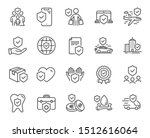 insurance line icons. health... | Shutterstock .eps vector #1512616064